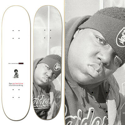 "Primitive Men's Biggie Raiders Skateboard Deck White 32x8"" Skate Sports"