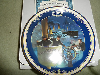 Titanic  Plate Bradford Exchange  Queen Of The Ocean Collection