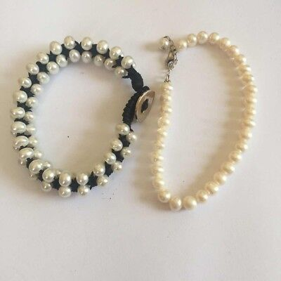 Two Real Pearl Bracelets