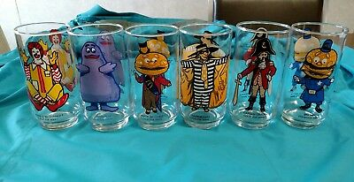 Vintage 1976 McDonald's Set of 6 Character Glasses