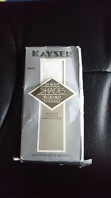 Vintage Kayser stockings white