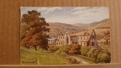 Postcard unposted Monmouthshire Tintern Abbey