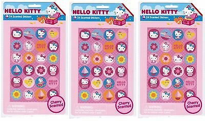 SANRIO Hello Kitty Pirate Treasure CHERRY Scented SNIFF Stickers!  3 Packs!