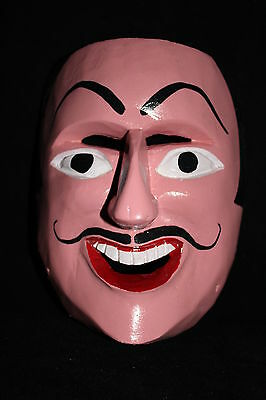 321 FACE DANCE MEXICAN WOODEN MASK mascara danza artesania autentic Michoacan