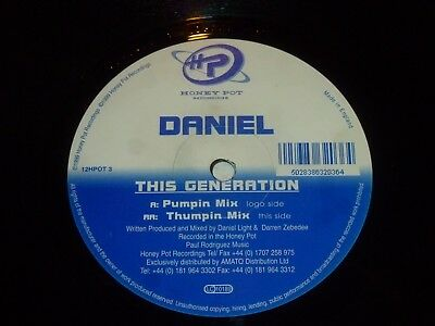 "DANIEL - This generation - 1999 UK 2-track 12"" Vinyl Single"