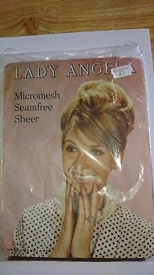 Vintage stockings lady angela micromesh seamfree sheer
