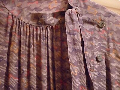 Vintage dress size 14 washable by Signorina made in England
