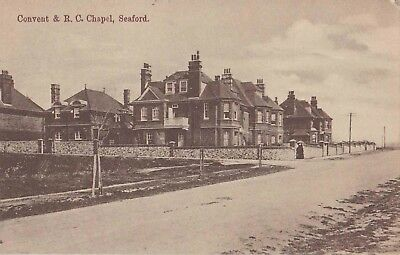 Early Postcard. Convent & R.C. Chapel, Seaford. Sussex (1913).