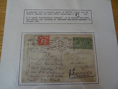 Postcard Dated 18th October 1921
