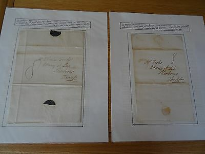 2 Letters Dated 5th August & 11th October 1797 (Posted in Sheffield)