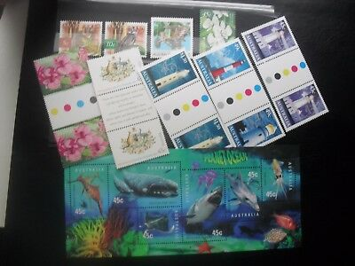 Australian MNH lot with 1998 Marinelife block + some  other stamps