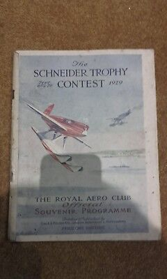 The SCHNEIDER TROPHY CONTEST September 6th /7th official programme orignal