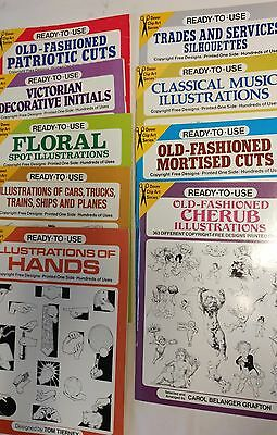 Lot of 14 Ready to Use Clip Art Books