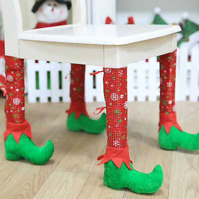 Restaurant Bar Chairs Foot Cover Stools Tables Feet Covers Christmas Decor UP
