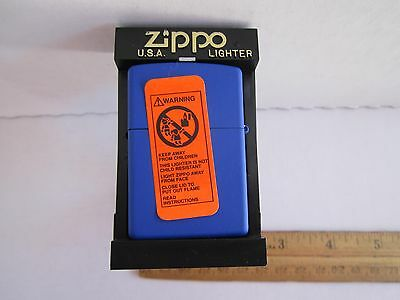 ZIPPO LIGHTER NEW BLUE ZIPPO I 2000 XVI With Old One Cent USA Coin; MADE IN USA!