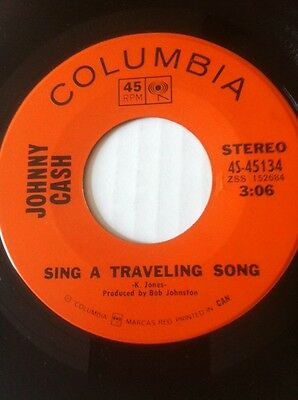 Johnny Cash-Sing A Travelling Song/what Is Truth-Canadian Columbia-See Scans