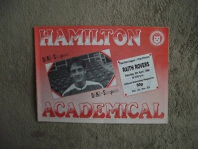 1987-88 (Apr) Hamilton Academical v Raith Rovers  - Scottish Division One