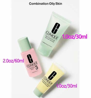 Clinique 3 Steps Travel Size Set for Skin Types 3/4 (Soap+Clarifying Lotion+Gel)