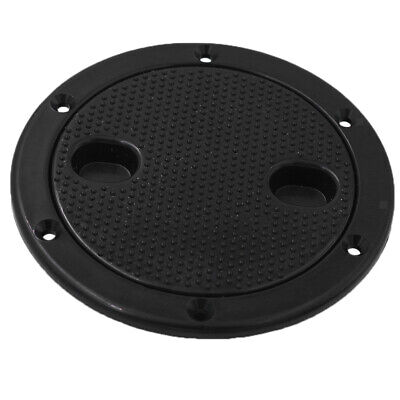 Marine Boat RV Black 4 Inch Access Hatch Cover Lid Screw Out Deck Plate