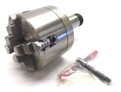 """NEW! 4"""" INDEPENDENT REVERSIBLE 4-JAW LATHE CHUCK w/ 5C MOUNT - #K72-100"""