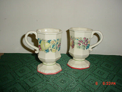 "2-Piece Avon ""sweet Country Harvest"" 4 1/2"" Coffee Cups/stoneware/clearance!"