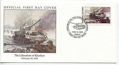 W56 1-1 History of World War II Marshall Is FDC Liberation of Kharkov