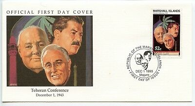 W65 1-1 History of World War II Marshall Is FDC Teheran Conference Dec 1 1943