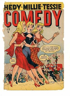 Comedy #3    Hedy Millie Tessie     FRONT COVER ONLY