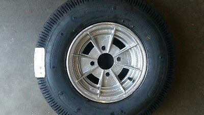 Mini 10 Inch Alloy Mag Wheel And 6Ply Tyre Suit Box Or Boat Trailer 4 Stud 101.6