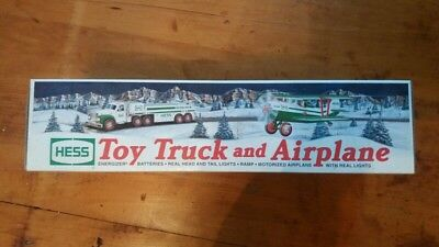 2002 Hess Toy Truck And Airplane -- Brand New