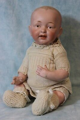 13 Inch Kestner Solid Dome Bisque Baby Marked 10 Antique Doll c.1910