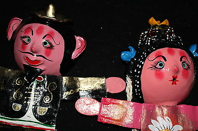 368 MARIACHI and DOLL MEXICAN COCONUT WALL DECOR  decorative figures