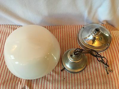 Vintage Large School House Hanging Light Ceiling Mount Lamp (used) Kitchen Porch