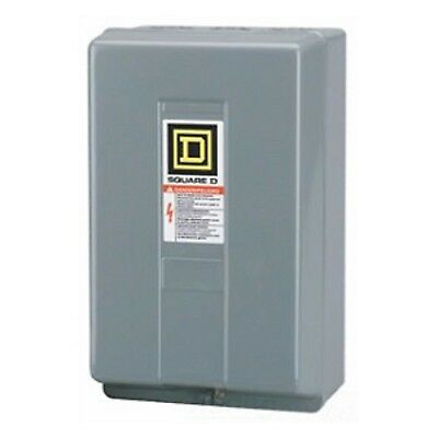 Square D Electrically Held 120V 2-Pole Lighting Contactor with NEMA 1 Enclosure