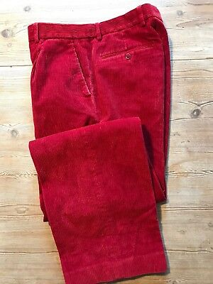 Vintage Heavy Red  Cords Corduroy Trousers Size 32