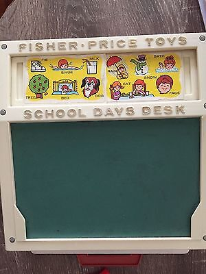 Vintage Fisher Price Writing Desk With Cards, Tray, Letters And Numbers