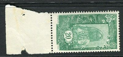 FRENCH SOMALIA;  Early 1915 pictorial issue Mint MNH 20c. value