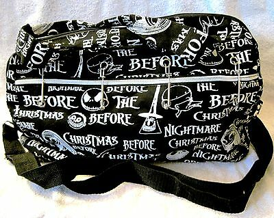 Rare - Disney - Nightmare Before Christmas - Cloth Bag With Safety Pin Design!!