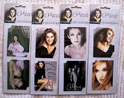 Brand-New - Lot Of 8 Beautiful - Collectible - Celine Dion Photo Stickers - Rare