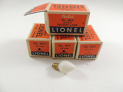 Lionel Frosted Lamps(4) No. 40-3 Original Boxes