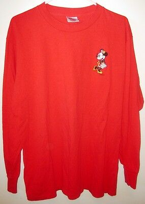 Beautiful - New - Xlarge (46-48) - Red - Long-Sleeved - Minnie Mouse T-Shirt!!