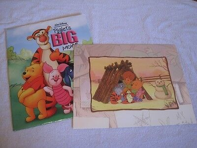 Walt Disney - Winnie The Pooh - Lithograph W/frame & Collector's Envelope!!
