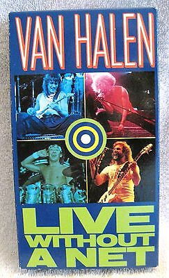 Van Halen - Vintage 1986 Live Without A Net Vhs Tape - Awesome Find!!