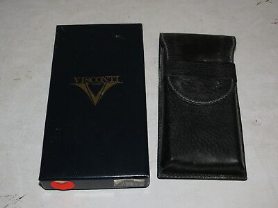 @ Visconti Firenze Leather Pen Holder Case @