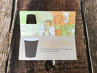 Starbucks FREE DRINK Voucher ANY SIZE ANY DRINK No Expiration Gift tea dd card