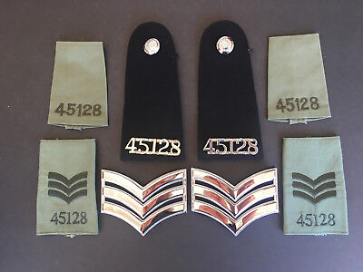 Collectible Royal Hong Kong Police shoulder pad & UI number,buttons,pre-owned