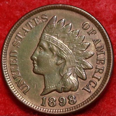 Uncirculated 1898 Philadelphia Mint Copper Indian Head Cent Free S/H
