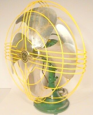 "Vintage Working GREEN BAY PACKER'S G.E. VORTALEX 16"" -  3 SPEED OSCILLATING FAN"
