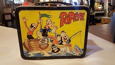 RARE VINTAGE1964 METAL LUNCH BOX 'POPEYE & FRIENDS KING-SEELY Minty cond.