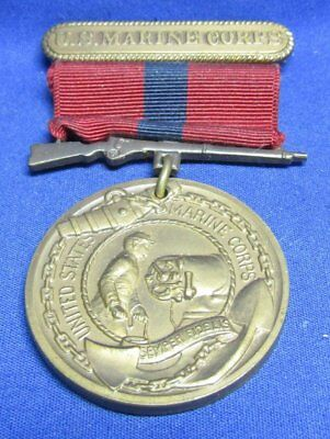 Pre-WWII 1923-27 USMC Good Conduct Named and #d 1st Enlistment Medal & Ribbon